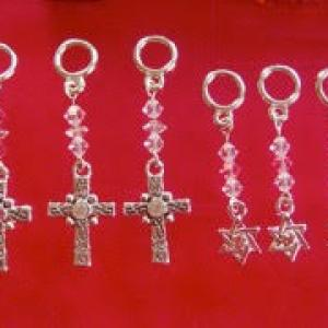 Crosses and Star of Davids