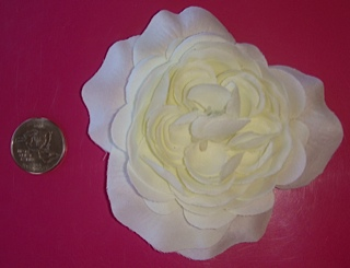 Big Cream Flower CI Bling