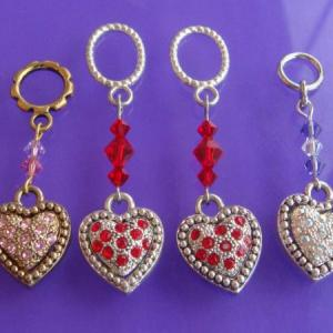 Embedded Swarovski Crystal Hearts