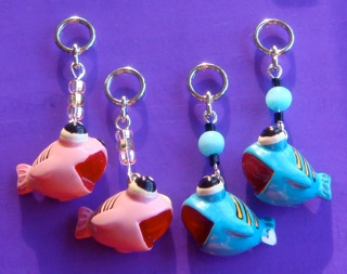 Pink and Blue Kissing Fish