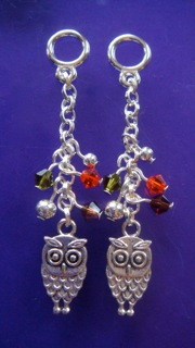 Silver bedazzled Owl